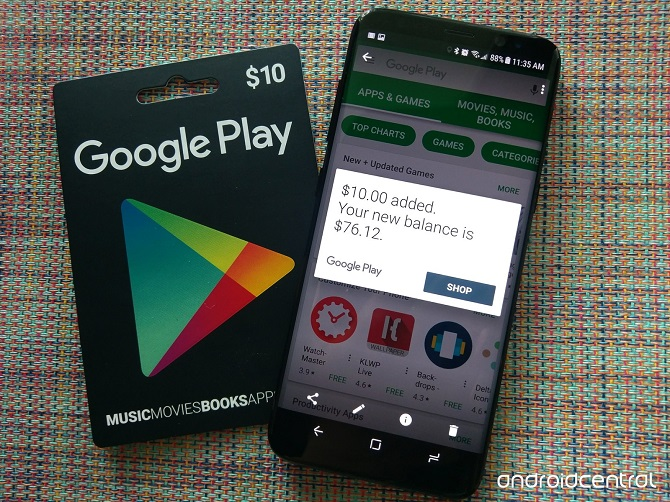 Buy Google play store gift card