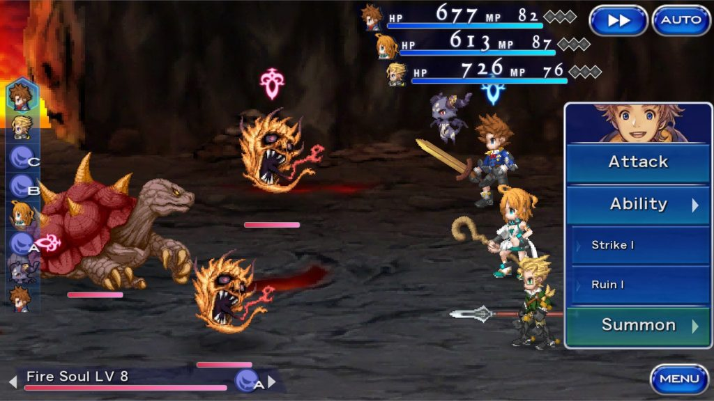 final fantasy dimensions ii battle gameplay