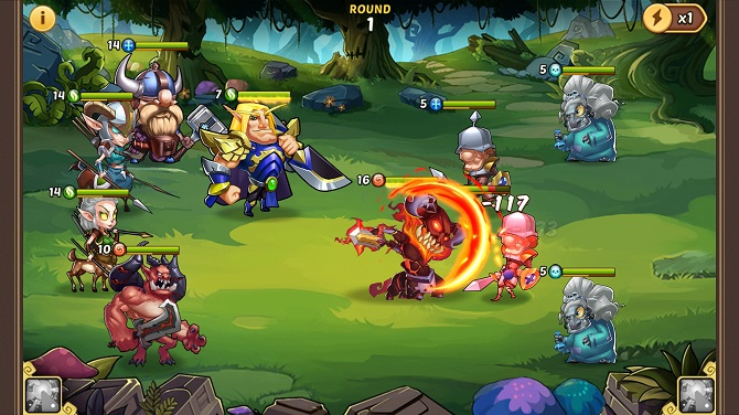 idle heroes gameplay
