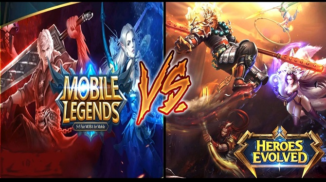 Heroes evolved vs mobile legends