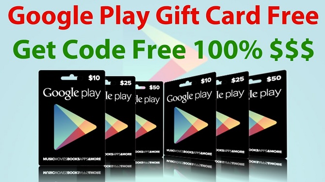 Free Google play store gift cards