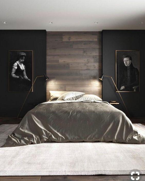 Shabby chic mens bedroom