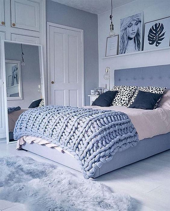 Blue Woman Bedroom